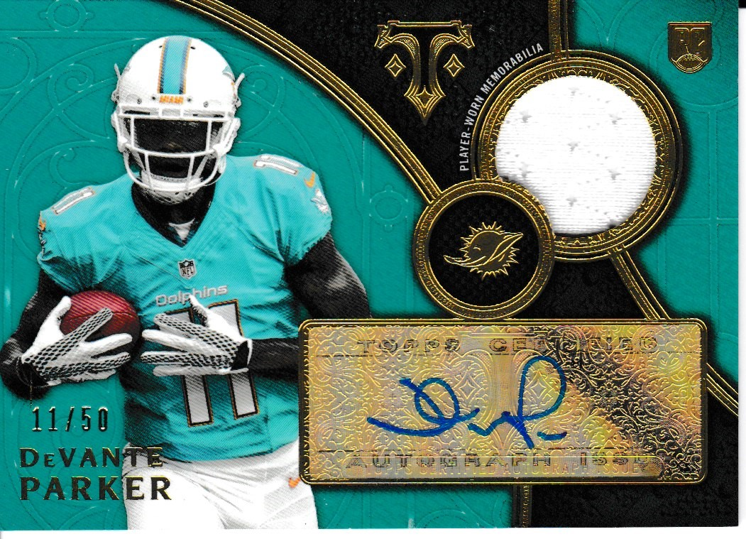 2015 Triple Threads Rookie Emerald Auto/Jsy /50