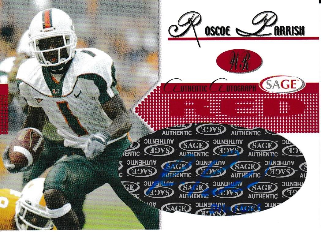 2005 Sage Red Rookie Auto /600